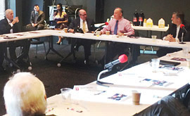 Secretary Carlos H. Cascos sits down with business leaders in Dallas.