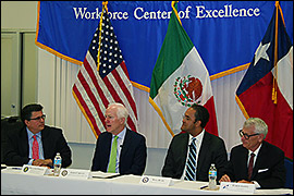 Secretary Pablos moderates a panel discussion