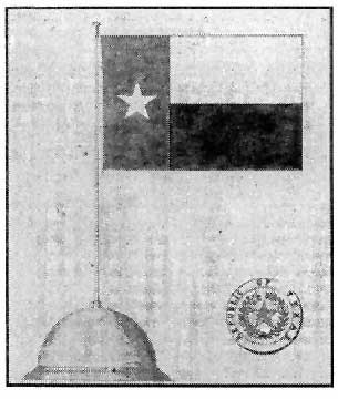 The 1839 National Flag of Texas and 1839 National Great Seal of the Republic of Texas (official design)