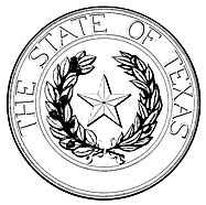 The Texas StateSeal painted by Henry W. Schlattner