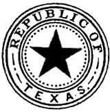 The 1836 Great Seal of the Republic of Texas