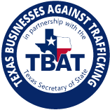 Texas Businesses Against Trafficking (TBAT) logo